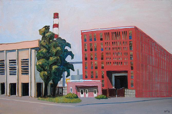 Завод «Электросила». х.м., 90х60 см., 2010 г.
