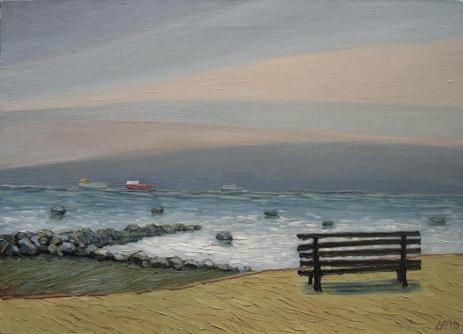 Рубен Монахов. «Как бы у моря». х.м., 70х50 см., 2010 г.