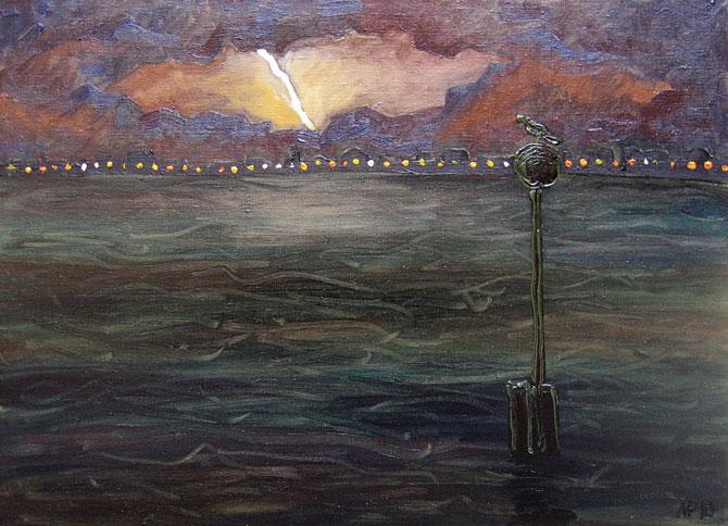 Венеция. Гроза в лагуне. х.м., 70х50 см., 2010 г.