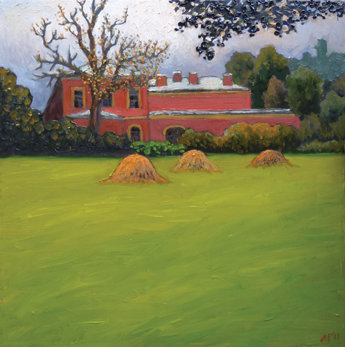 Early autumn in Petrodvorets. oil on canvas, 50x50 cm., 2011.