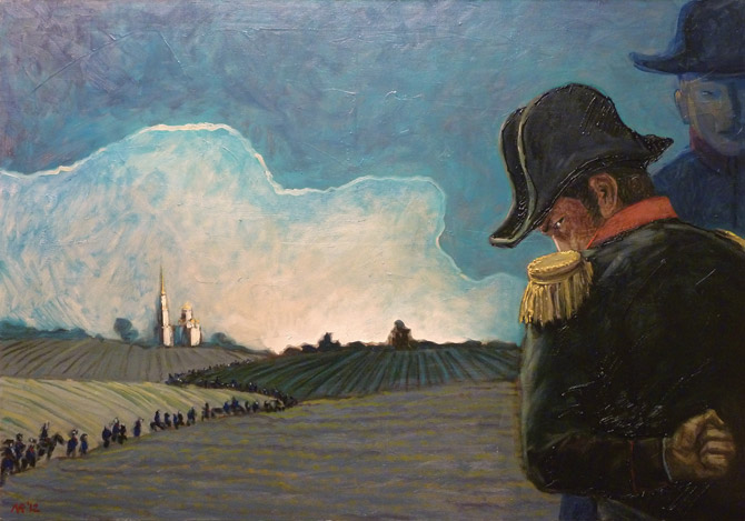 Ruben Monakhov. November 1812. oil on canvas, 100x70 cm., 2012.