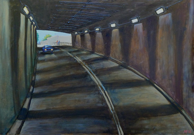 Kanonersky tunnel. oil on canvas, 90x65 cm., 2012.
